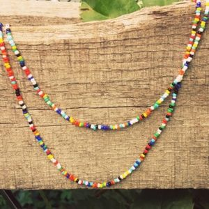 Jewelry - Long Wrap Boho Beaded Festival Love Bead Necklace